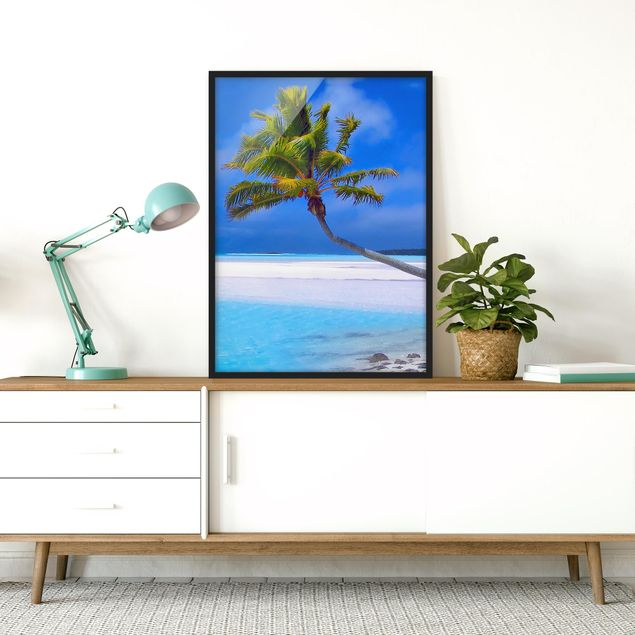 Bild mit Rahmen - Tropical Dream - Hochformat 3:4