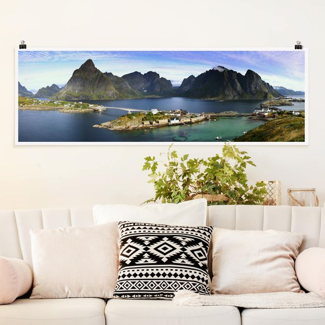 Poster - Nordisches Paradies - Panorama Querformat