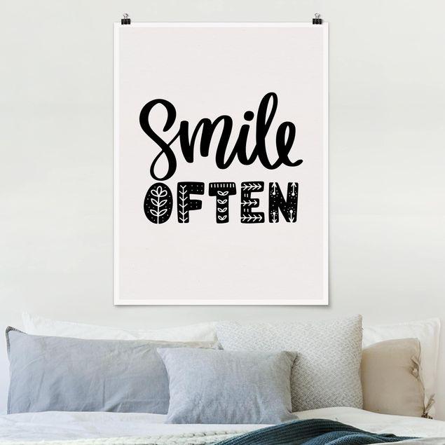 Poster - Smile often - Hochformat 3:4