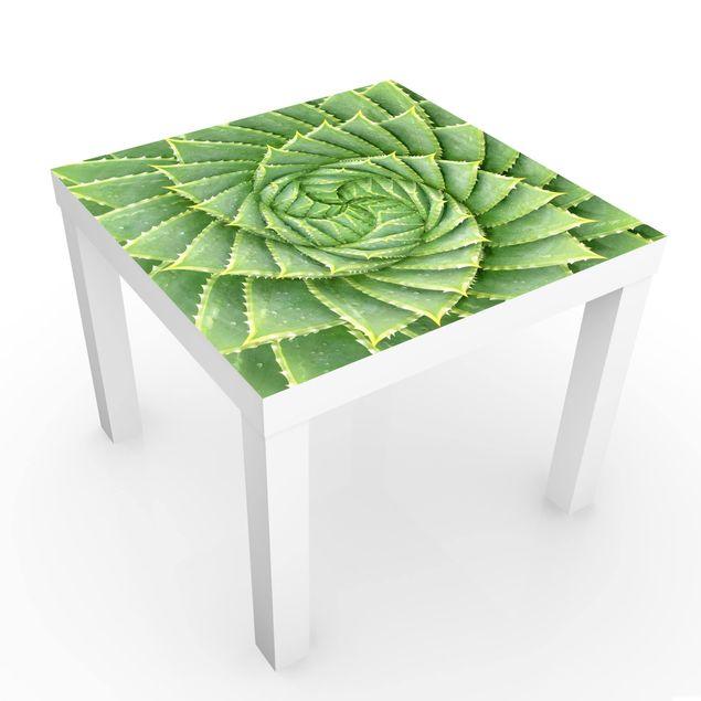 Möbelfolie für IKEA Lack - Spiral Aloe - Klebefolie