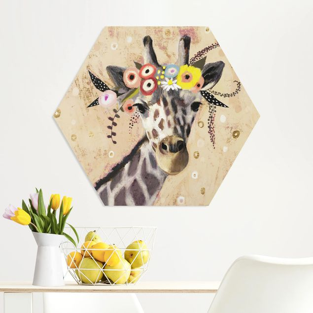 Hexagon Bild Forex - Klimt Giraffe