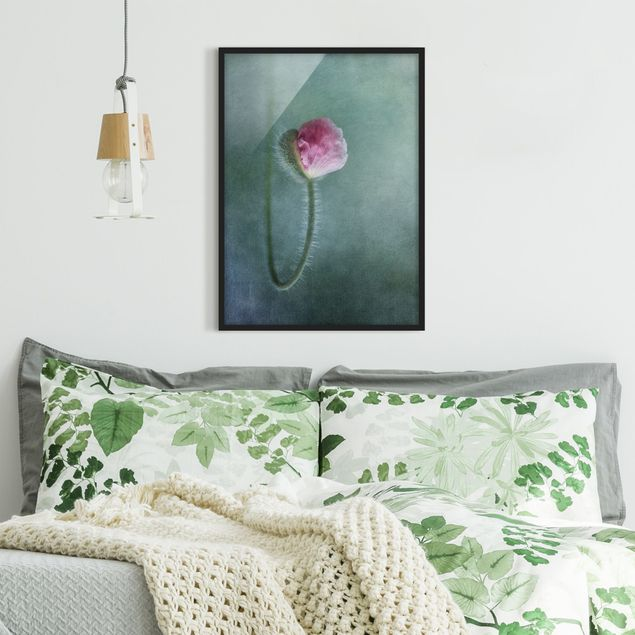 Bild mit Rahmen - Blüte in Rosa - Hochformat 3:4