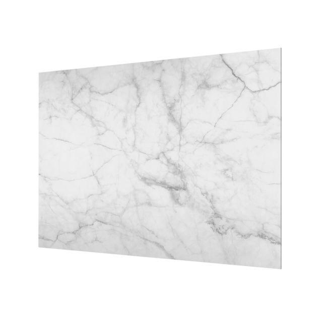 Glas Spritzschutz - Bianco Carrara - Querformat - 4:3