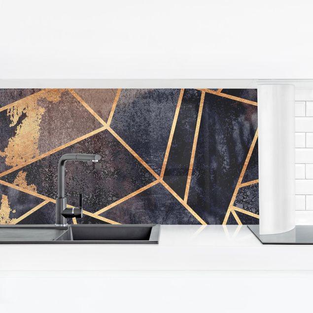 Küchenrückwand - Elisabeth Fredriksson - Onyx mit Gold