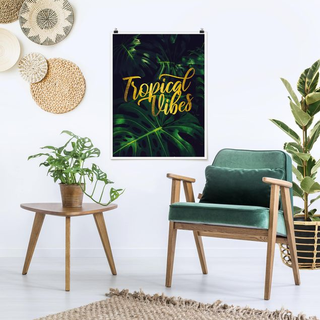 Poster - Dschungel - Tropical Vibes - Hochformat 4:3