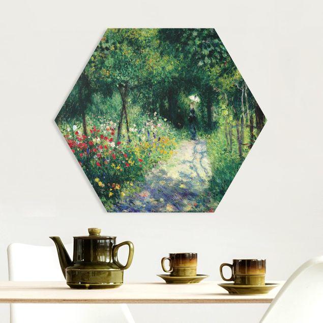 Hexagon Bild Forex - Auguste Renoir - Frauen im Garten
