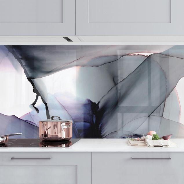 Küchenrückwand - Violett im Fluss