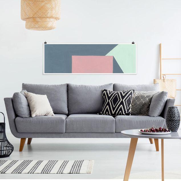 Poster - Schatten der Wände II - Panorama Querformat