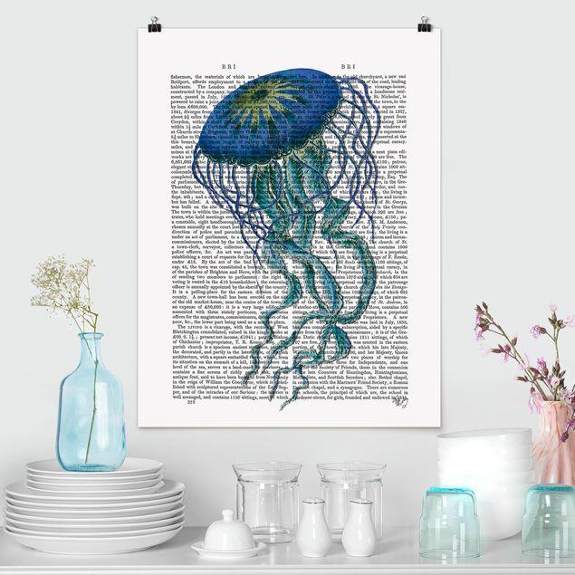 Poster - Tierlektüre - Qualle - Hochformat 3:4