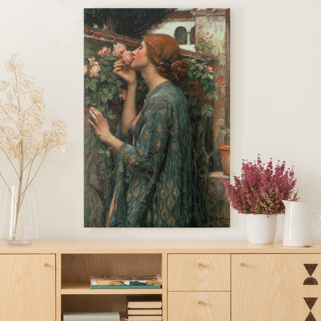 Leinwandbild - John William Waterhouse - Die Seele der Rose - Hochformat 3:2