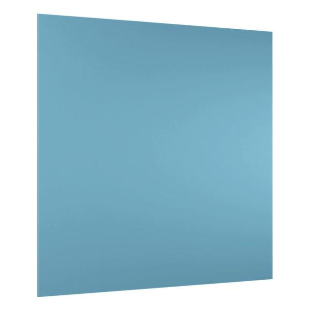 Glas Spritzschutz - Meerblau - Quadrat - 1:1