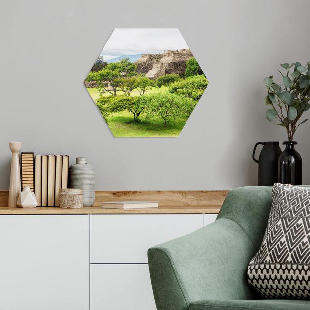 Hexagon Bild Forex - Pyramide von Monte Alban