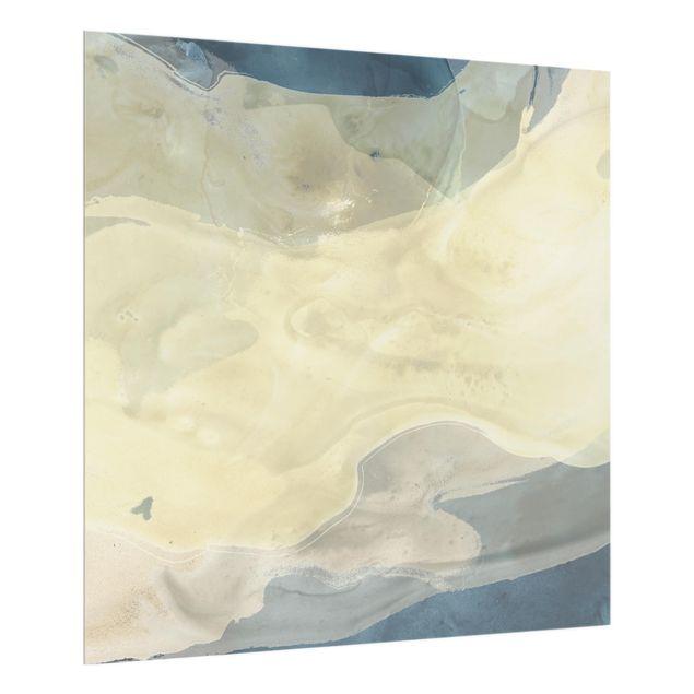 Glas Spritzschutz - Ozean und Wüste I - Quadrat - 1:1