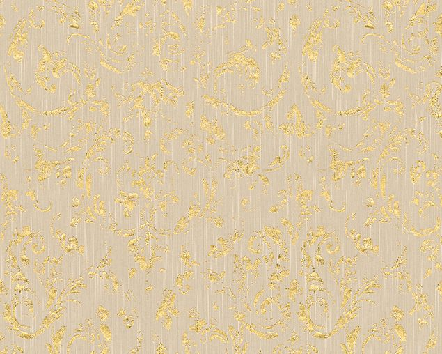 Architects Paper Unitapete Metallic Silk in Beige, Metallic
