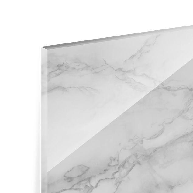 Glas Spritzschutz - Marmoroptik Schwarz Weiß - Querformat - 4:3