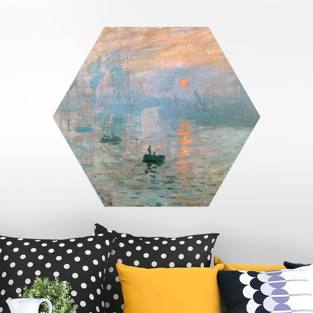 Hexagon Bild Alu-Dibond - Claude Monet - Impression