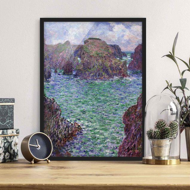 Bild mit Rahmen - Claude Monet - Port Goulphar - Hochformat 3:4