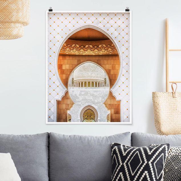Poster - Tor der Moschee - Hochformat 3:4