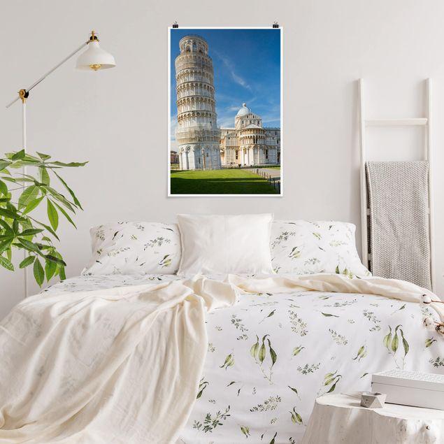 Poster - Der schiefe Turm von Pisa - Hochformat 3:2