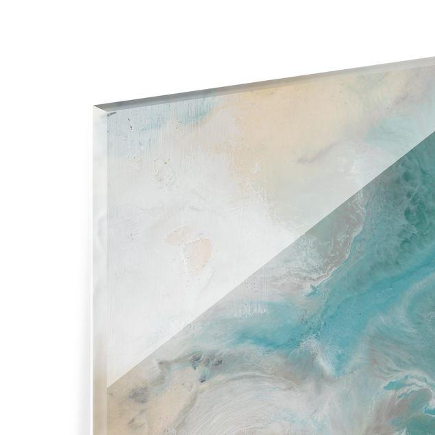 Glas Spritzschutz - Gezeiten mit Strandgut I - Querformat - 4:3