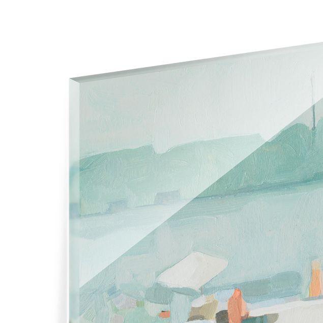 Glas Spritzschutz - Sandbank im Meer I - Quadrat - 1:1