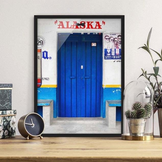 Bild mit Rahmen - ALASKA Blue Bar - Hochformat 3:4
