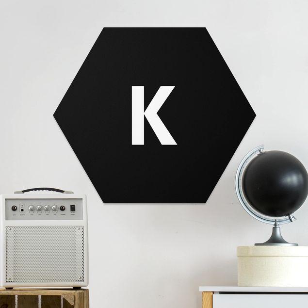 Hexagon Bild Forex - Buchstabe Schwarz K