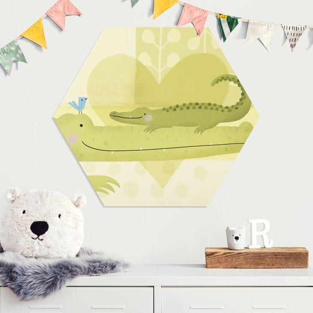 Hexagon Bild Forex - Mama und ich - Krokodile