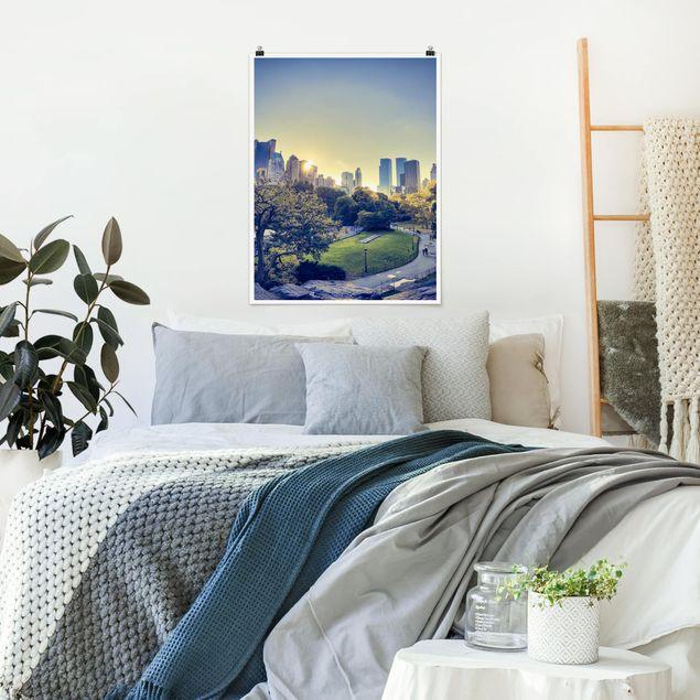 Poster - Peaceful Central Park - Hochformat 3:4