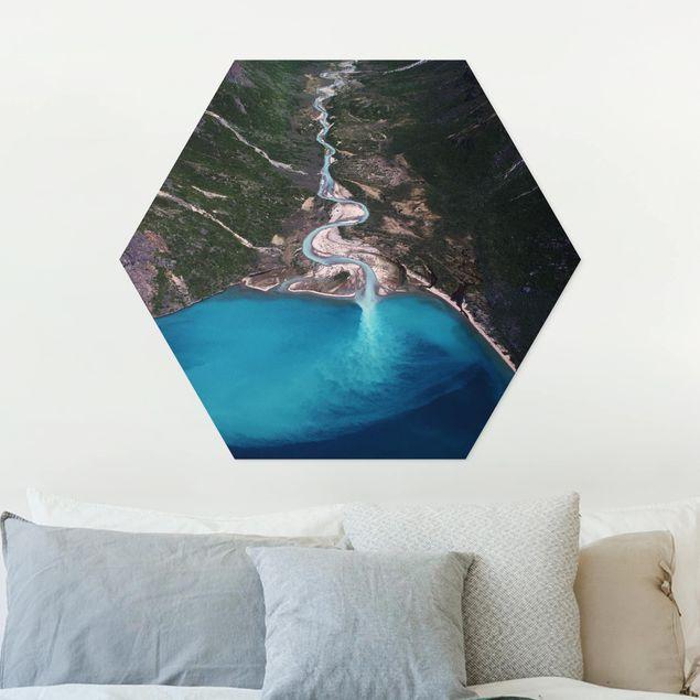 Hexagon Bild Forex - Fluss in Grönland