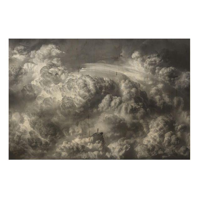 Holzbild - Ein Sturm zieht auf - Querformat 2:3