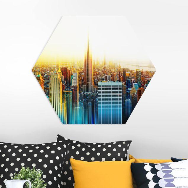 Hexagon Bild Forex - Manhattan Abstrakt