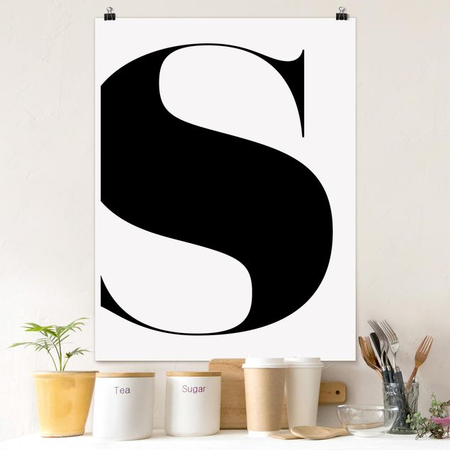 Poster - Antiqua Letter S - Hochformat 3:4