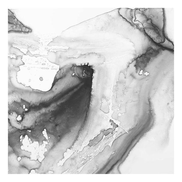 Glas Spritzschutz - Dunst und Wasser I - Quadrat - 1:1