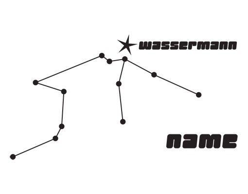 Wandtattoo Sprüche - Wandtattoo Namen No.UL804 Wunschtext Sternbild Wassermann