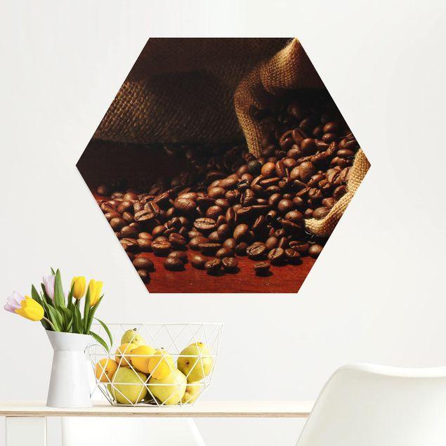 Hexagon Bild Alu-Dibond - Dulcet Coffee