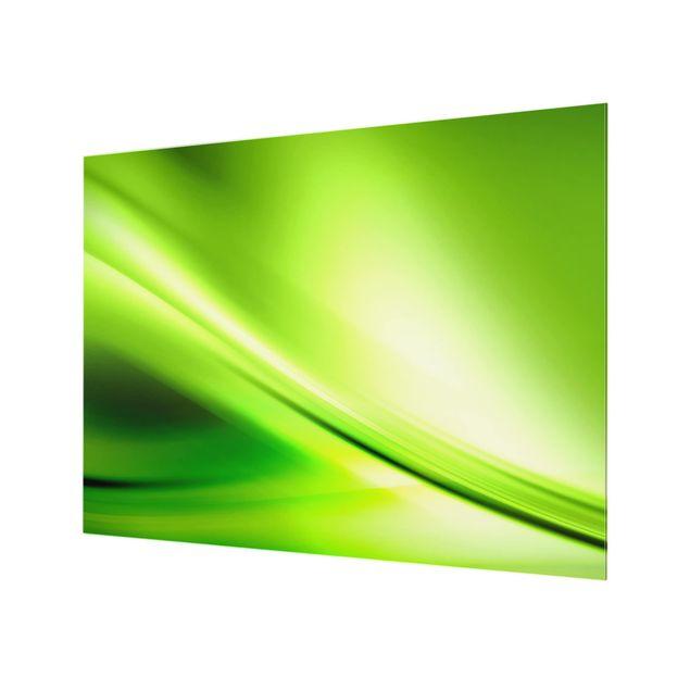 Glas Spritzschutz - Green Valley - Querformat - 4:3