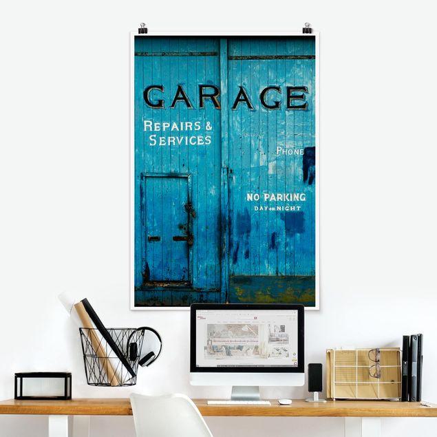 Poster - Garagentor - Hochformat 3:2