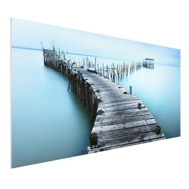 Forex Fine Art Print - Der Hafen von Carrasqueira - Querformat 1:2