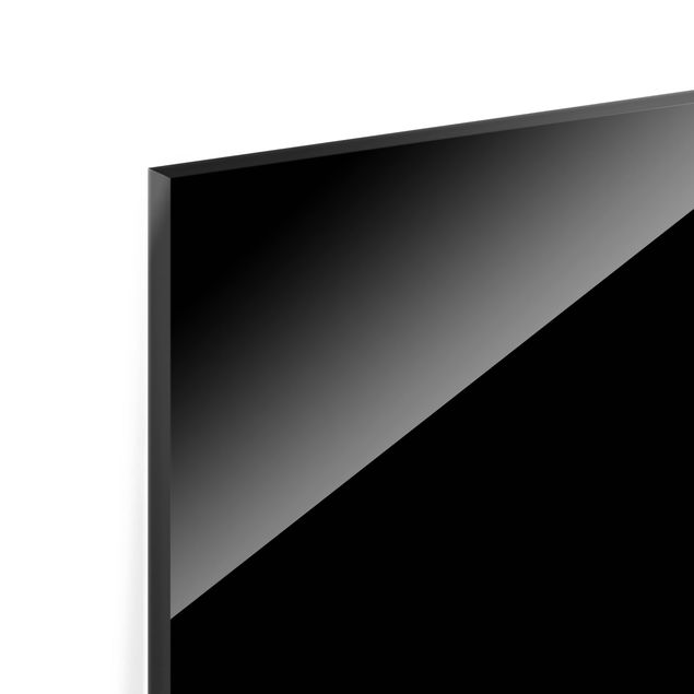 Glas Spritzschutz - Tiefschwarz - Querformat - 4:3