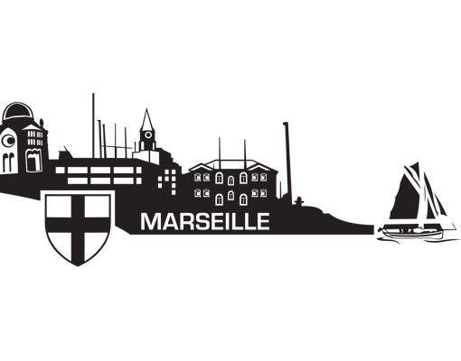Wandtattoo Skyline No.MW108 Skyline Marseille