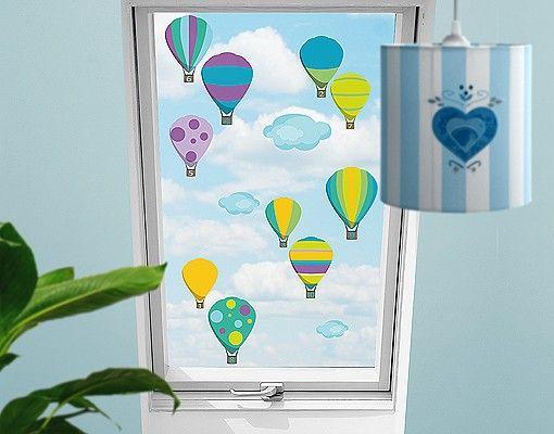 Fensterfolie - Fenstersticker No.RS142 Zahlenballons - Fensterbilder