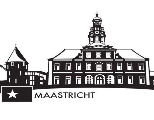 Stadt Maastricht - Wandtattoo Skyline - No.MW111 Skyline Maastricht Wandtattoo