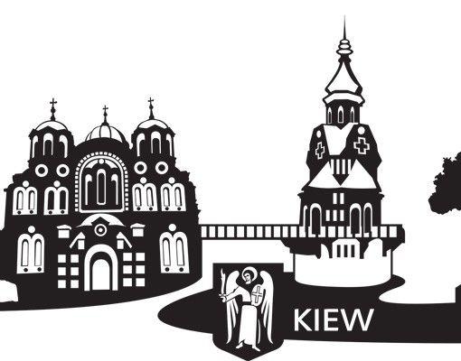 Stadt Kiew - Wandtattoo Skyline - No.MW118 Skyline Kiew Wandtattoo