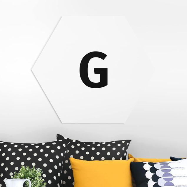 Hexagon Bild Forex - Buchstabe Weiß G