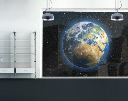 Fensterfolie - XXL Fensterbild My Earth - Fenster Sichtschutz