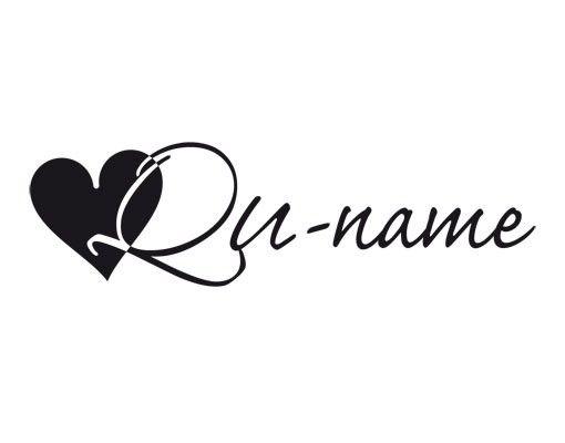 Wandtattoo Sprüche - Wandtattoo Namen No.UL855 Wunschtext Initiale Qu
