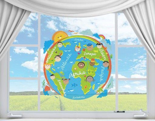Fensterfolie - Fenstersticker No.EK129 Kinderwelt - Fensterbilder