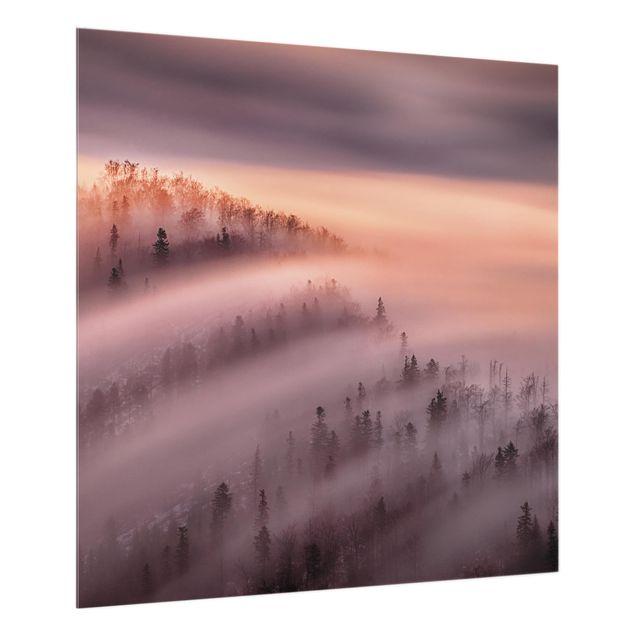 Glas Spritzschutz - Nebelflut - Quadrat - 1:1