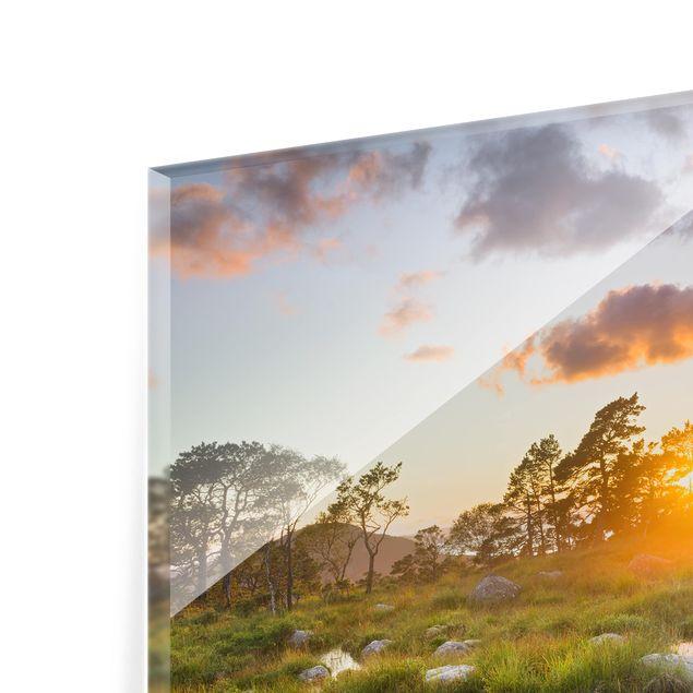 Glas Spritzschutz - Tverrdalsbekken in Norwegen - Quadrat - 1:1